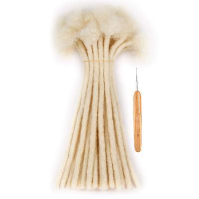 0.6cm Thickness Permanent Dread Extensions Human Hair Dreadlocks 20 Locs #613 White Blonde