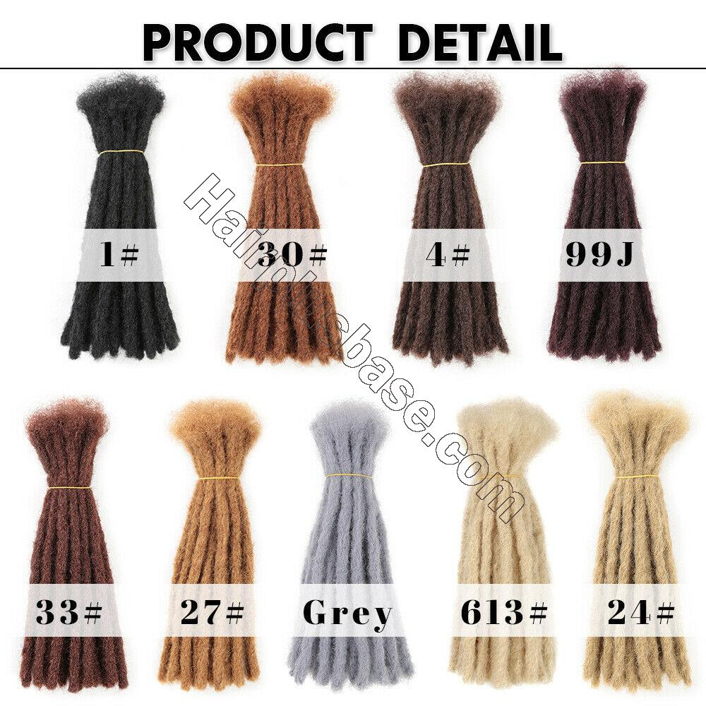 10 Inch Short Crochet Dreadlocks Synthetic Blunt Ends Braided Locs Hair Extensions 4