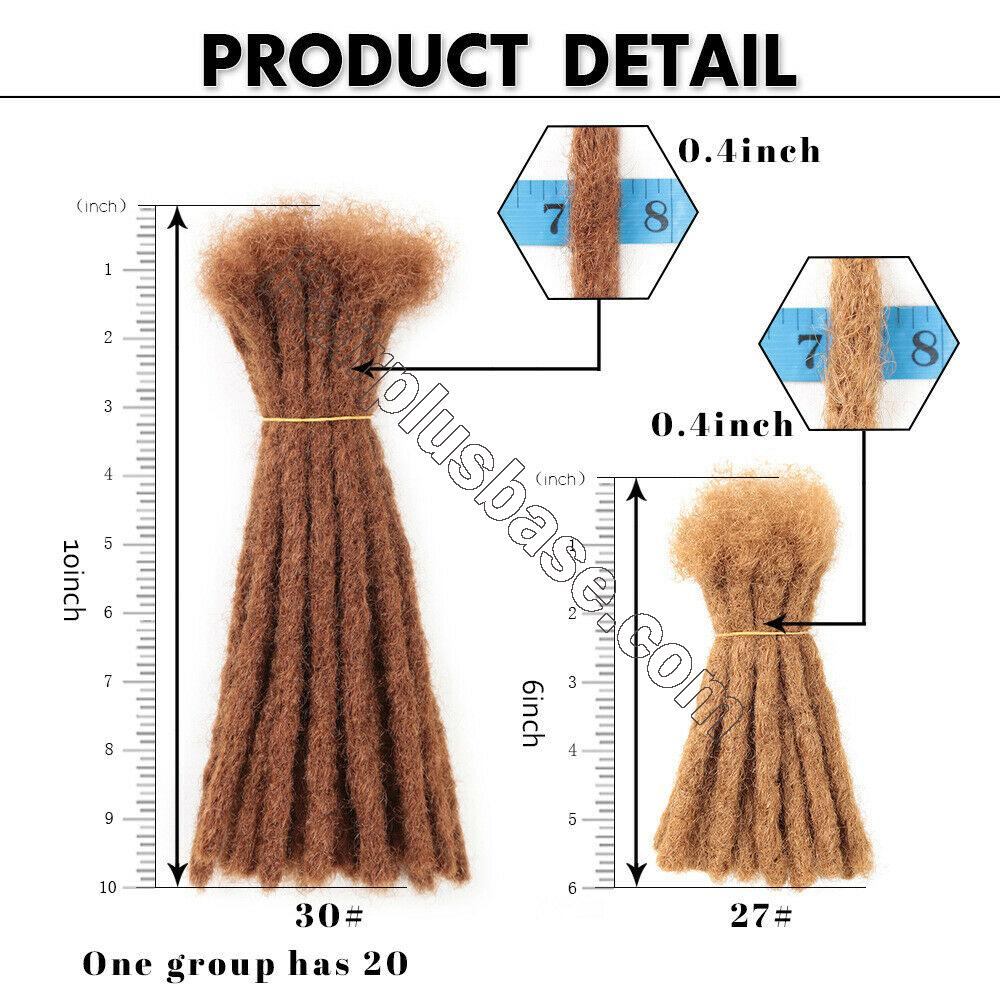 10 Inch Short Crochet Dreadlocks Synthetic Blunt Ends Braided Locs Hair Extensions 10