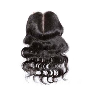 "10""-20"" Middle Part Brazilian Virgin Hair Body Wave Lace Closure(4""*4"") Natural Color"