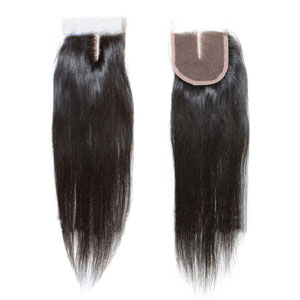 """10""""-20"""" Middle Part Brazilian Virgin Hair Straight Lace Closure(4""""*4"""") Natural Color"""