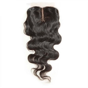 "10""-20"" Middle Part Virgin Brazilian Hair Body Wave Silk Based Top Lace Closure(4""*4"") Natural Color"