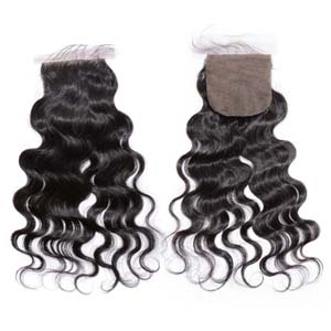 "10""-20"" Virgin Brazilian Hair Body Wave Silk Based Top Lace Closure(4""*4"") Free Style Natural Color"