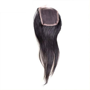 "10""-20"" Virgin Brazilian Hair Straight Top Lace Closure(4""*4"") Free Style Natural Color"