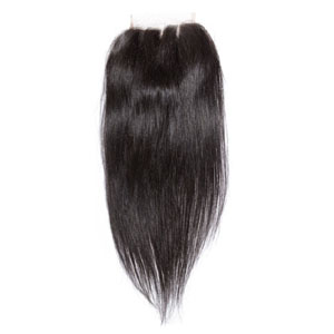 """10""""-20"""" Virgin Brazilian Remy Hair 3 Part Straight Lace Top Closure(5""""*5"""") Natural Color"""