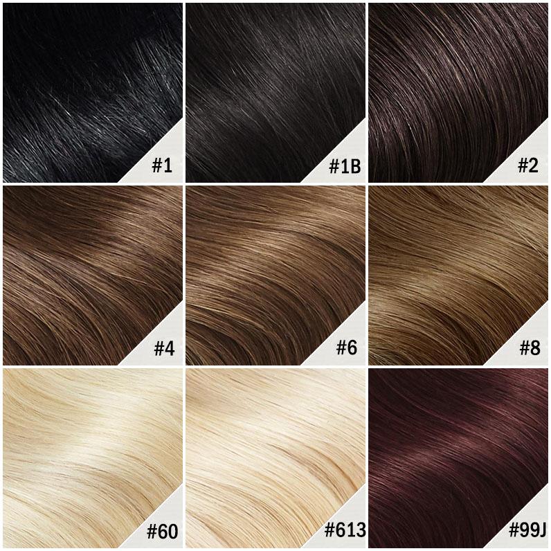 10 - 24 Inch Halo Human Hair Extensions #1B Natural Black Kinky Straight 5