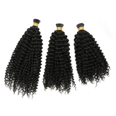 10 - 30 Inch Kinky Curly Stick/I Tip Remy Human Hair Extensions 100s