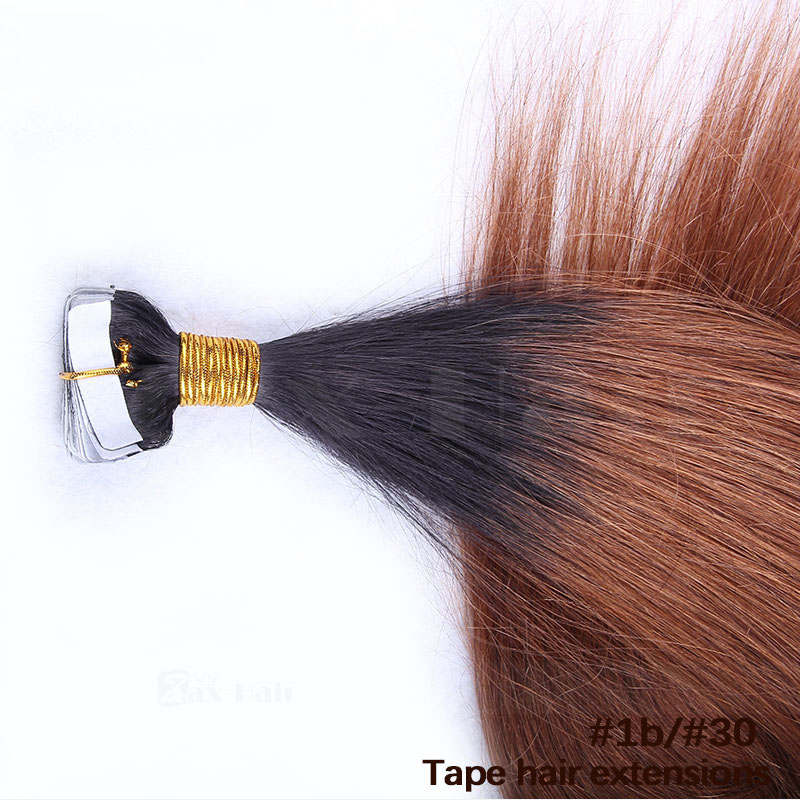 10 30 Inch Ombre Tape In Remy Human Hair Extensions Two Tone 1b