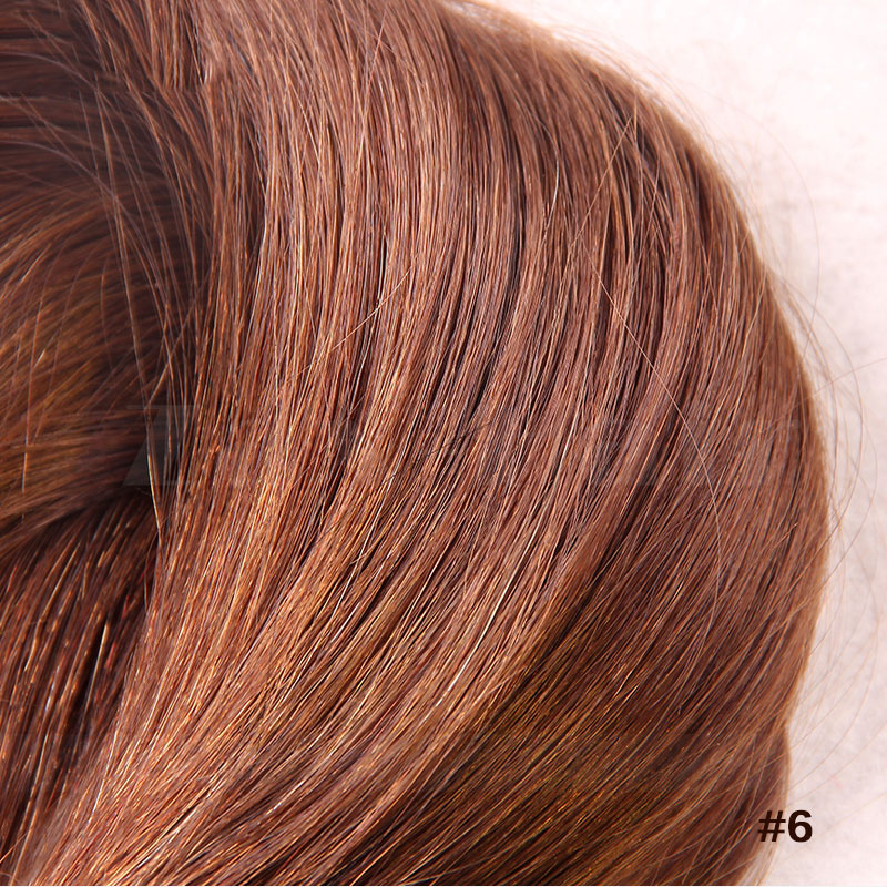 10 - 30 Inch Tape In Human Hair Extensions #6 Light Brown Straight 20 Pcs 3