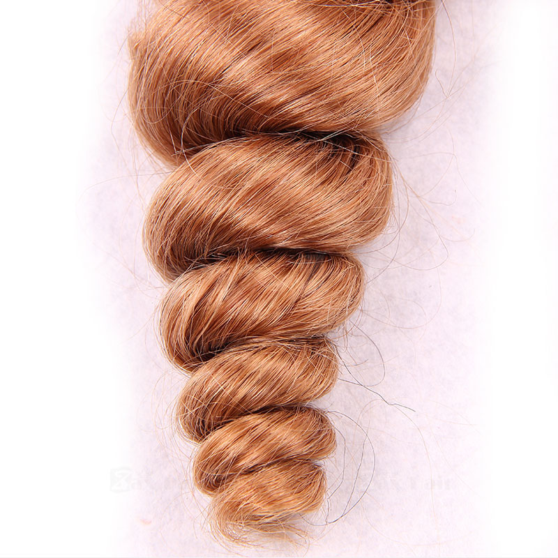 10 - 30 Inch Tape In Remy Human Hair Extensions #27 Strawberry Blonde Spiral 20 Pcs 4