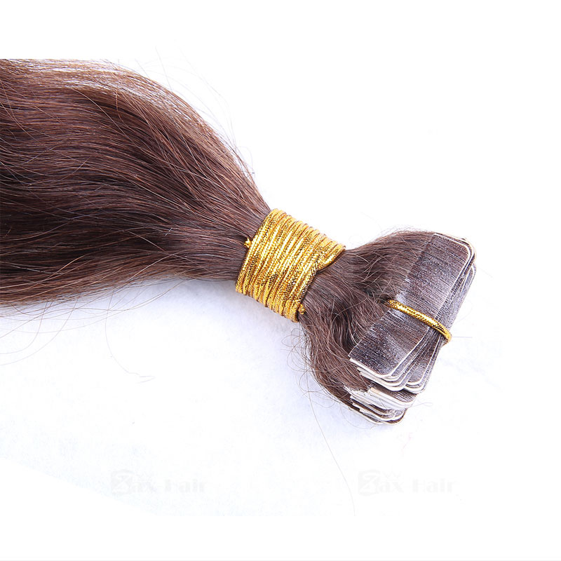 10 - 30 Inch Tape In Remy Human Hair Extensions #4 Medium Brown Body Wave 20 Pcs 3