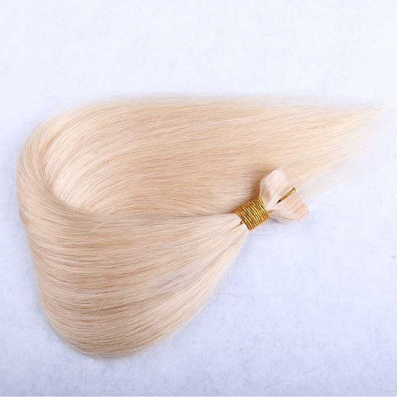 10 - 30 Inch Tape In Remy Human Hair Extensions #613 Bleach Blonde Straight 20 Pcs 2