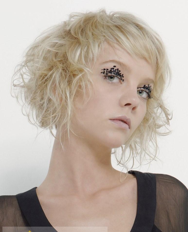 10 Inch 100 Human Hair Blonde Short Wigs Capless Curly