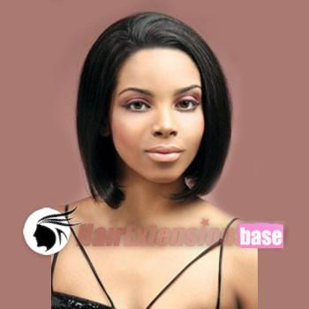 10 Inch Straight Short Lace Front Wigs 1b Natural Black