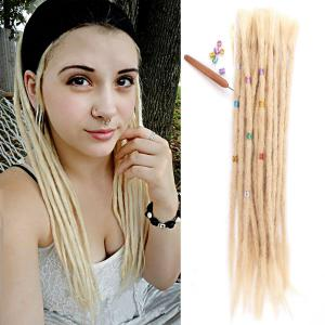 "14 - 20"" 100% Human Hair Dreadlocks Crochet FUNKY Locks Hair Extensions Blonde 10 Pieces"