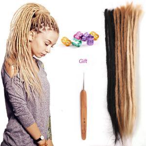 14 - 20 Inch Human Hair Dreadlocks Handmade Braiding Rasta Dreads 10 Strands