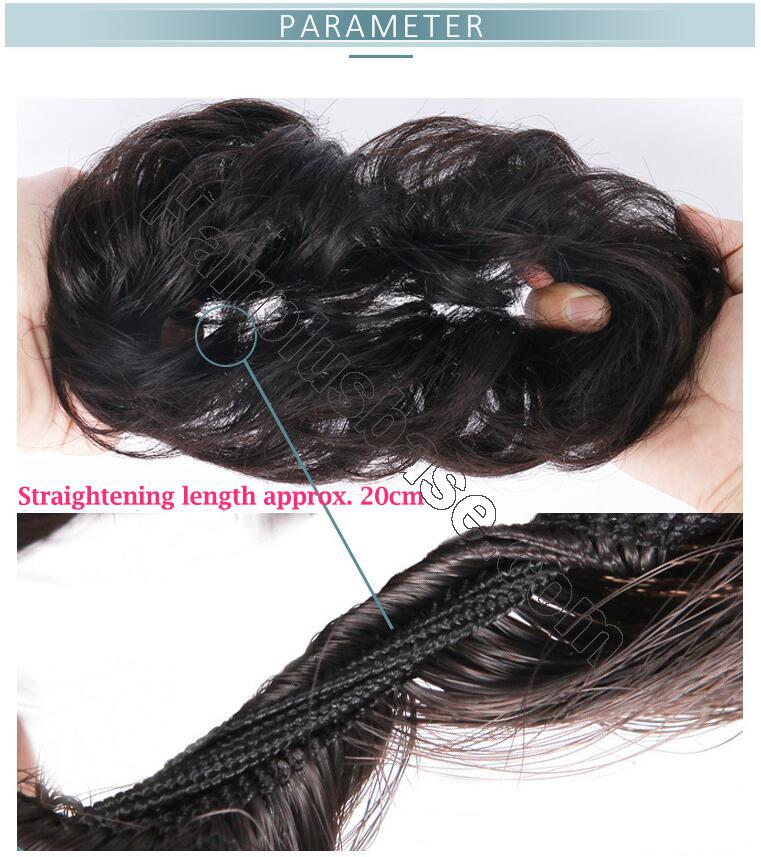 100% Human Hair Curly Buns Chignon Hair Pieces for Women & Kids 5