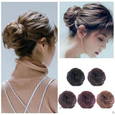 100% Human Hair Curly Buns Chignon Hair Pieces for Women & Kids