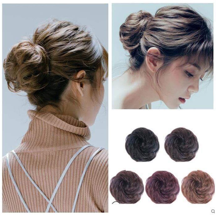 100% Human Hair Curly Buns Chignon Hair Pieces for Women & Kids 7