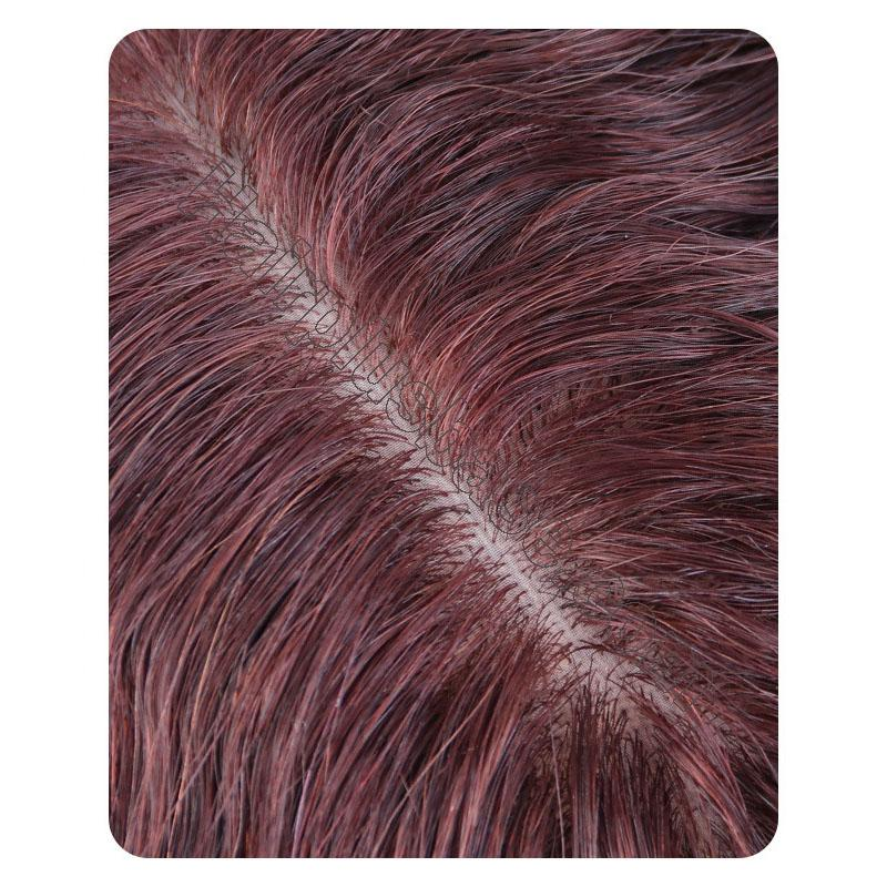 100% Human Hair Toppers with Bangs for Women Curly Clip On Hair Topper for Thinning Hair 3