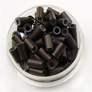 500pcs Black Copper Silicone Beads for Hair Extensions