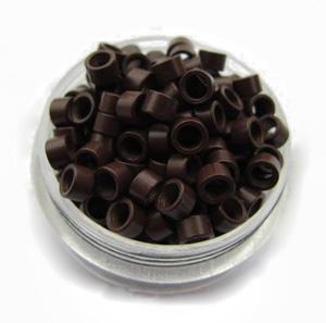 500pcs Brown Aluminium Spiral Links for Hair Extensions