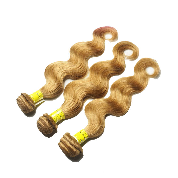 "12"" - 34""  Brazilian Remy Hair Body Wave #27 Strawberry Blonde 1pc/Lot Or 3pcs/Lot no 1"