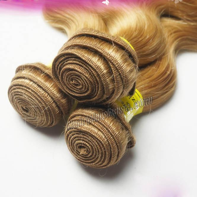 "12"" - 34""  Brazilian Remy Hair Body Wave #27 Strawberry Blonde 1pc/Lot Or 3pcs/Lot no 4"