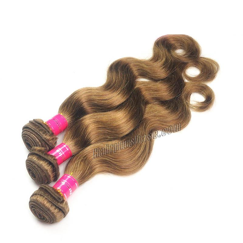 "12"" - 34"" Brazilian Remy Hair Body Wave #12 Golden Brown Hair Wefts no 5"