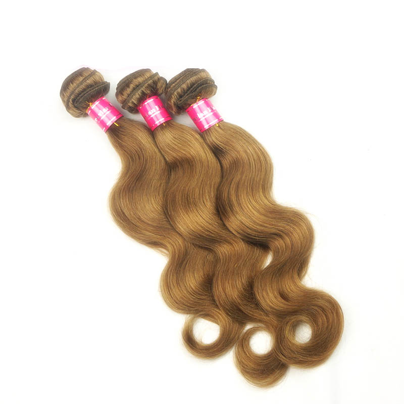 "12"" - 34"" Brazilian Remy Hair Body Wave #12 Golden Brown Hair Wefts"