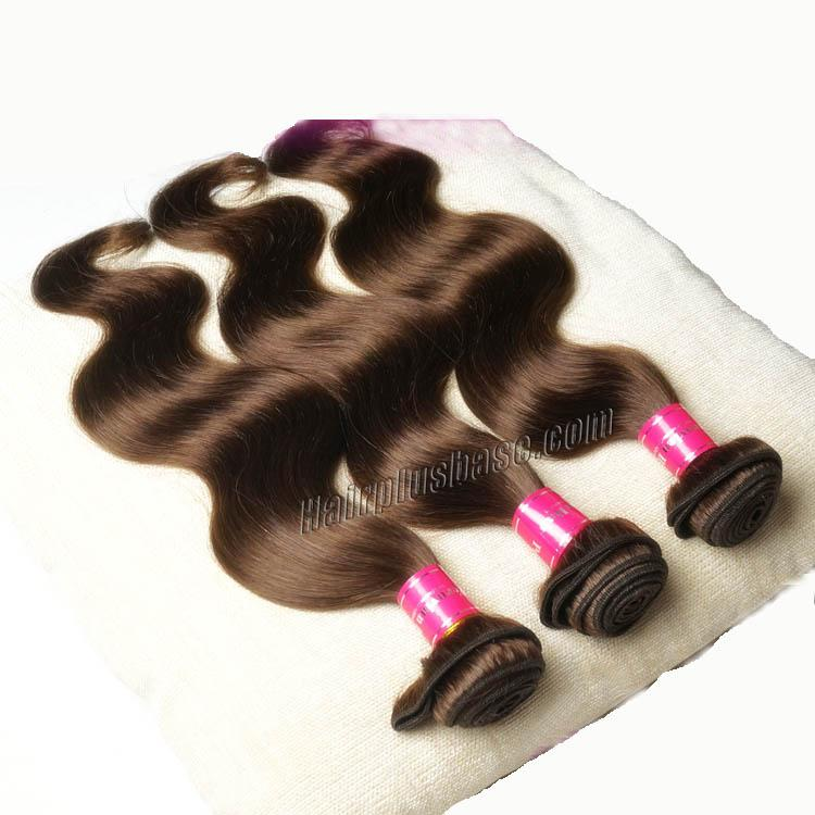 "12"" - 34"" Brazilian Remy Hair Body Wave #4 Medium Brown Hair Wefts no 1"