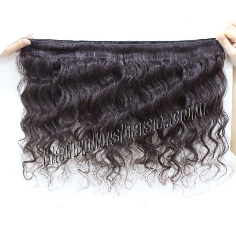 "12"" - 34"" Brazilian Virgin Hair Loose Wavy #1B Natural Black 1pc/4pcs no 3"