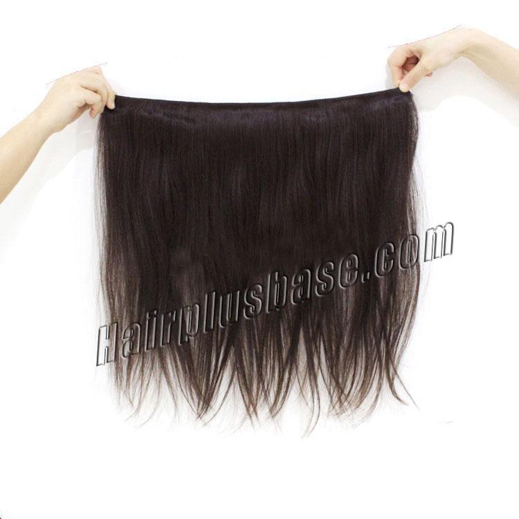"12"" - 34"" Brazilian Virgin Hair Straight #1B Natural Black 1pc/3pcs no 3"