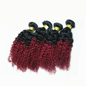 "12"" - 34"" Gutty Ombre Brazilian Remy Hair Extensions Curly Two Tone"