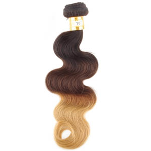 "12"" - 34"" Mild Ombre Brazilian Remy Hair Body Wave Three Tone"