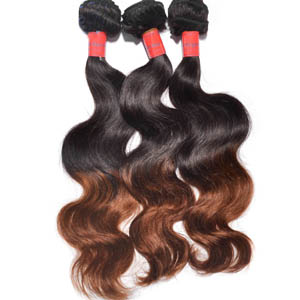 "12"" - 34"" Ombre Brazilian Remy Hair Body Wave Two Tone at Low Price"