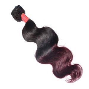 """12"""" - 34"""" Ombre Brazilian Remy Hair Extensions Body Wave Two Tone for 1pc Sets"""
