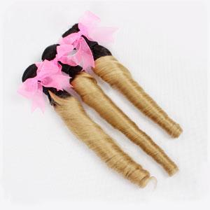 """12"""" - 34"""" Ombre Brazilian Remy Hair Spiral Aunty Funmi Hair #1B & #27 1pc/3pcs"""