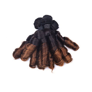 "12"" - 34"" Ombre Brazilian Remy Hair Spiral Aunty Funmi Hair #1B & #28 1pc/3pcs"