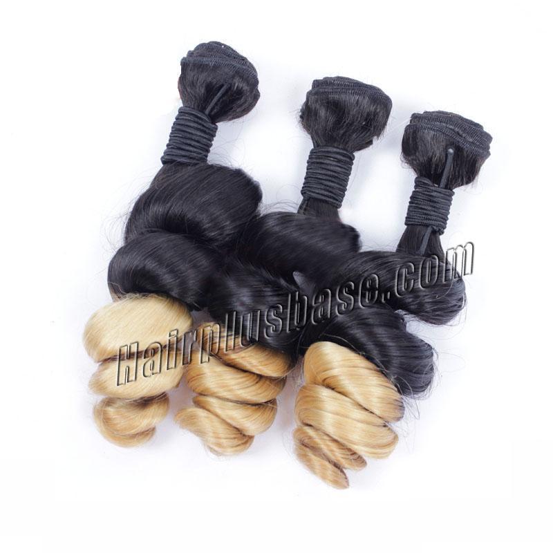 """12"""" - 34"""" Ombre Brazilian Remy Hair Spiral Aunty Funmi Hair #2 & #24 1pc/3pcs no 3"""