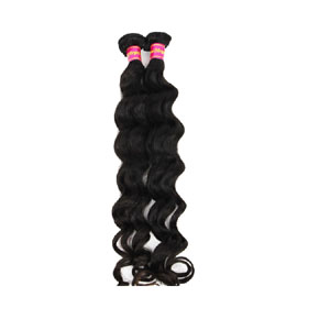 "12"" - 34"" Virgin Brazilian Hair Loose Wavy #1B Natural Black 2pcs/Lot"