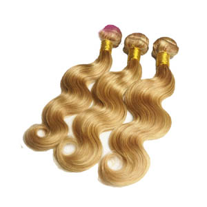 12 Inch - 34 Inch Brazilian Remy Hair Body Wave #27/613 Hair Wefts