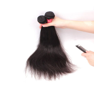 12 Inch - 34 Inch Brazilian Virgin Hair Straight #1B Natural Black 2pcs/Lot