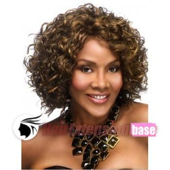 12 Inch Curly Medium African American Hair Wigs  8 Ash Brown no 2 f6d2748c63f4