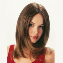 12 Inch Straight Medium Lace Front Wigs #8 Ash Brown