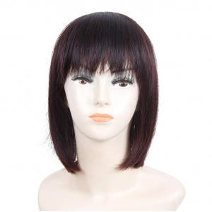 """12"""" Straight Real Human Hair Toppers with Bangs Clip in Crown Hairpieces for Women with Thinning Hair"""