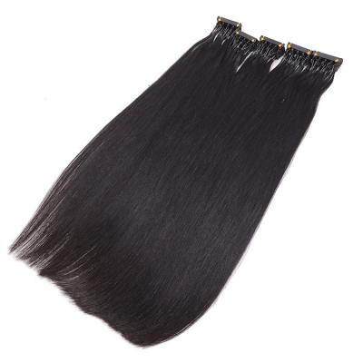 14 - 30 Inch 6D Hair Extensions 100% Human Hair Straight 20 Rows 5 Strands/Row