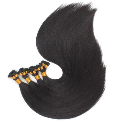 14 - 30 Inch Hand Tied Hair Extensions Human Hair Wefts Straight 6 Bundles/Pack