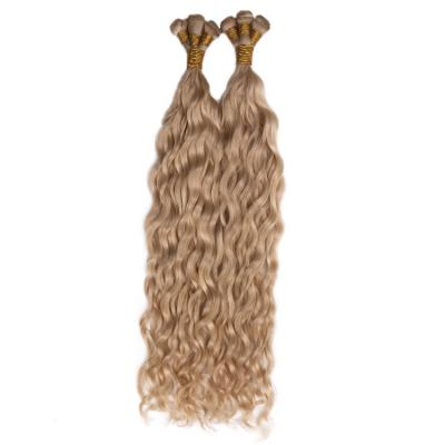 14 - 30 Inch Hand Tied Hair Extensions Human Hair Wefts Water Wave 6 Bundles/Pack #27
