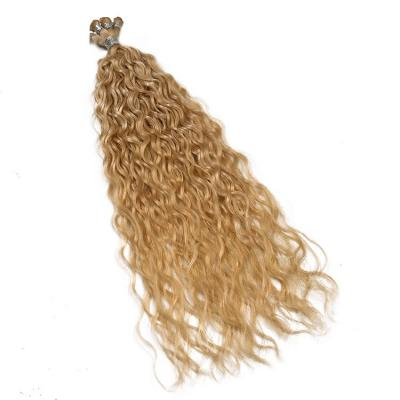 14 - 30 Inch Hand Tied Hair Extensions Loose Curl Human Hair Wefts 6 Bundles/Pack